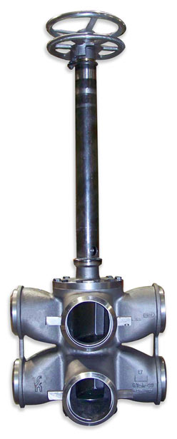 Dual Plug Valve consisting of the body, cover, and plug